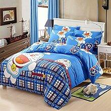 Giovanna Doraemon Bettwäsche-Set für Kinderbett,