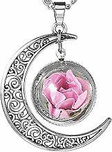 Giow Frauen schmuck Blumen Glas Halskette