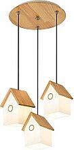 Giow Kreative Holzhaus Kinderzimmer Lampe E27