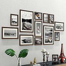 Giow Vintage Bilderrahmen Fotowand, Set mit 12