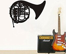 Giow Wandaufkleber Französisch Horn