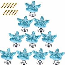 Giplar 10 Stück Kreative Seestern Möbelknöpfe