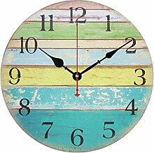 Giplar 12-Inch Hölzernen Wall Clock - Wanduhr