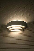 Gips Wandleuchte Design Wandlampe Gips bemalbar