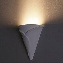 Gips-Wandleuchte Merkato   Wandlampe inklusive E