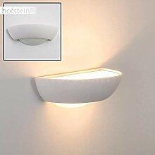 Gipslampe Stronco - Designer-Wandleuchte Weiß im