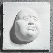 Gipsmanufaktur Bild Buddha Gesicht Traurig 20x20 cm