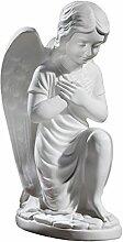 Gipsmanufaktur Engelfigur kniend 33cm weiß