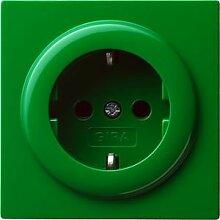 Gira 018845 Schuko Steckdose S, grün