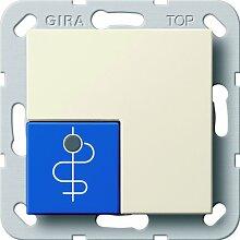 Gira 290501 Arztruftaster blau System 55, cremeweiß