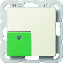 Gira 590801 Anwesenheitstaster grün System 55, cremeweiß