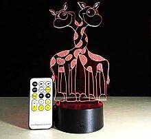 Giraffe 3D Led Visuelle Lampe Nachtlichter Für