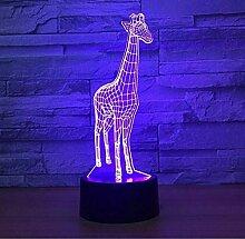 Giraffe 3D Nachtlicht LED Vision Stereo Lampe 7