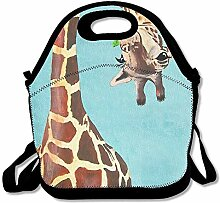 Giraffe Convenient Lunch Box Tote Bag Rugged