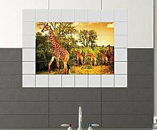 Giraffe Fliesenaufkleber 15 10 25 20 cm
