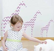 GIRAFFE Kinderzimmer Dekor Schablone. nach Hause Kinderzimmer Wand Dekor. Wandfarbe Stoff & Möbel Wiederverwendbar Ideal Stencils Ltd - halb transparent schablone, XL/54X76CM