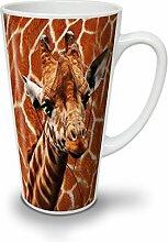Giraffe Musik Ventilator Tier NEU Weiß Tee Kaffe Keramik Latté Tasse 17 oz   Wellcoda