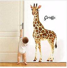 Giraffe Wandaufkleber Aquarell Druck Aufkleber