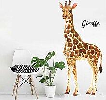 Giraffe wandaufkleber aquarell drucken aufkleber