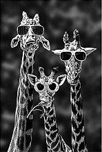 Giraffen mit Sonnenbrille Lustige Kunst