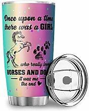 Girl Love Horse Simple Modern 590 ml Autobecher