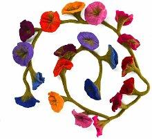 Girlande Filzblume Die Saisontruhe Farbe des