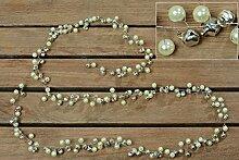 Girlande Glöckchen Materialmix silber Länge 110