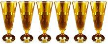 Girm®–S7128–Sektkelch Einweg, Lieferumfang 6Stück, Orange transparent, Flute für Partys, Plastikbecher Einweg, champagner-Gläser von Kunststoff, bunte Plastikbecher, Flute Festplatten-Kunststoff, Einweg Weinglas, Stielglas-Kunststoff Plastikbecher für Champagner.
