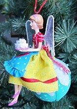 Gisela Graham Engel-Cupcake-Design aus Harz, zum Aufhängen, Dekoration A)