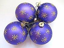 Gisela Graham violett Christbaumkugel Set von