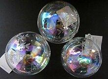 Gisela Graham Weihnachten irisierend Glaskugel-Set