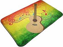 Gitarre mit Note Rutschfester Teppich