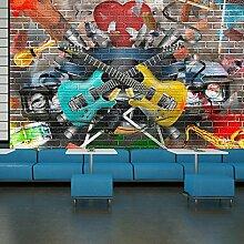 Gitarre & Musik Wandbild Graffiti Foto-Tapete Kinder Schlafzimmer Haus Dekor Erhältlich in 8 Größen Extraklein Digital