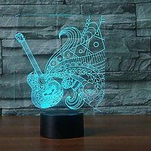 Gitarre Touch Tischlampe 7 Farben Ändern