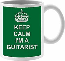 Gitarristen Keramik Tasse Design auf weiß Keramik