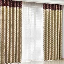 Gitter Schatten Sonnenschutz Vorhang/Einfache moderne Schlafzimmer Wohnzimmer Gardinen-A 300x250cm(118x98inch)