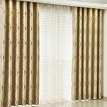 Gitter Schatten Sonnenschutz Vorhang/Einfache moderne Schlafzimmer Wohnzimmer Gardinen-H 350x270cm(138x106inch)