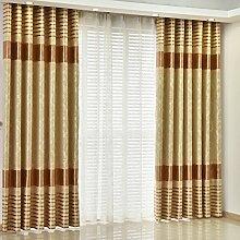Gitter Schatten Sonnenschutz Vorhang/Einfache moderne Schlafzimmer Wohnzimmer Gardinen-F 400x270cm(157x106inch)