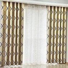 Gitter Schatten Sonnenschutz Vorhang/Einfache moderne Schlafzimmer Wohnzimmer Gardinen-G 300x270cm(118x106inch)