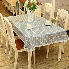 gitter Tischdecke grobes tuch dekoration Hotel Couchtisch Esstisch Geschirr Spitze rand Staub Tuch , 140*180cm