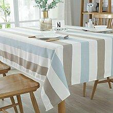 gitter Tischdecke Reiner baumwolle wasserdicht Einfache Dekorative Hotel Couchtisch Esstisch Geschirr Staub Tuch , B , 140*220cm