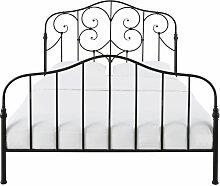 Gitterbett aus Metall, schwarz 160x200 Esmeralda