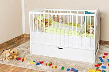 Gitterbett / Kinderbett Kiefer massiv Vollholz