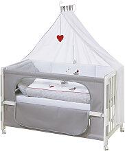 GITTERBETT-KOMPLETTSET Room Bed Adam & Eule Grau,