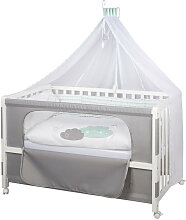 GITTERBETT-KOMPLETTSET Room Bed Happy Cloud Grau,