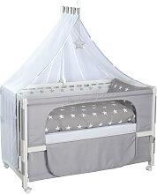 GITTERBETT-KOMPLETTSET Room Bed Little Stars Grau,