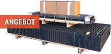 Gittermatten-Zaun Komplett-Set / Metall-Gartenzaun Komplett-Paket aus verzinktem Stahl mit anthraziter Pulverbeschichtung (RAL 7016) mit einer Höhe von 80 cm / 40 m Länge /Drahtstärke 6-5-6 mm / inklusive Gitterstabmatten, Zaun-Pfosten und Montagematerial / Made in Germany