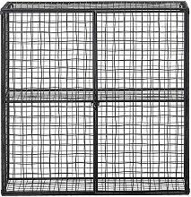 Gitterregal Inez aus schwarzem Metall