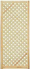 Gittertür Holztür natur 140,6 x 59,4 cm