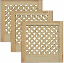 Gittertür Holztür natur 39,5 x 39,4 cm